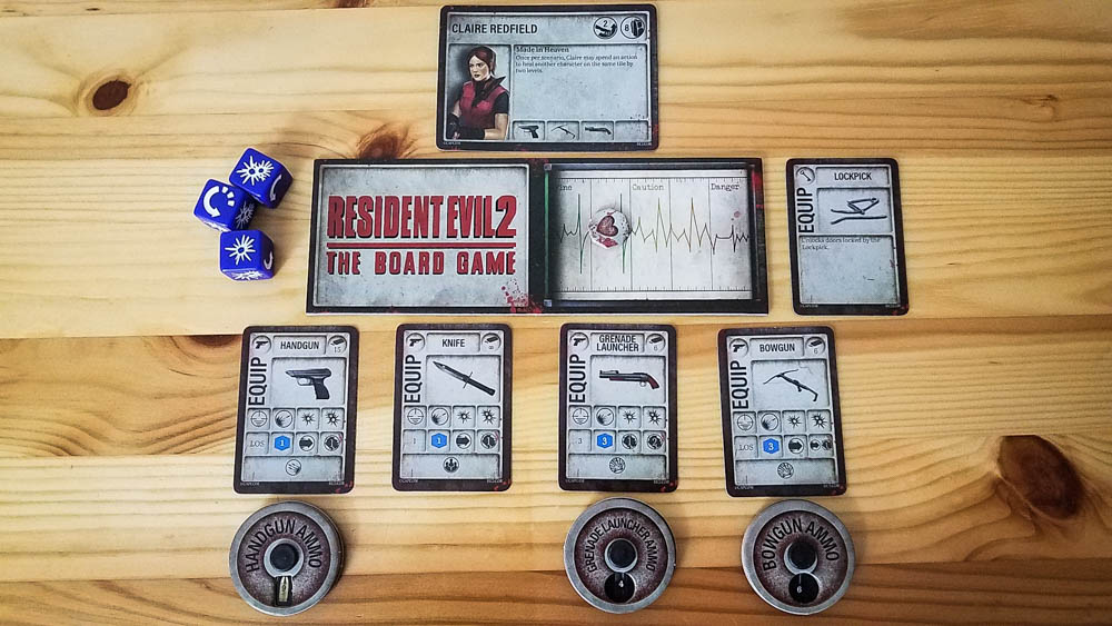 Resident Evil 2 The Board Game review - Claire and her items