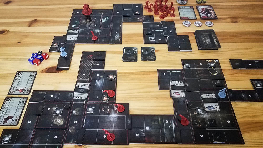 Resident Evil 2 The Board Game review - scenario set up