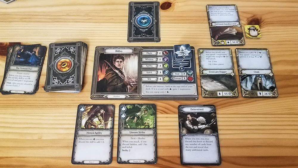The Lord of the Rings Journeys in Middle-earth review - Bilbo's cards