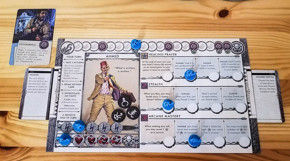 Cthulhu Death May Die review - investigator board
