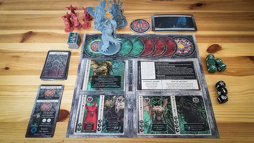 Cthulhu Death May Die review - story board