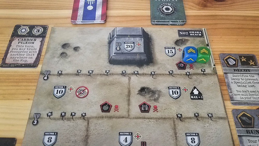 D-Day Dice second edition review - Omaha Beach