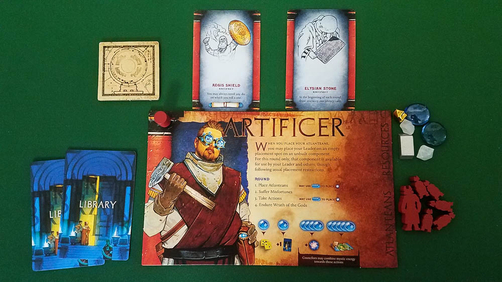 Atlantis Rising (Second Edition) review - player area