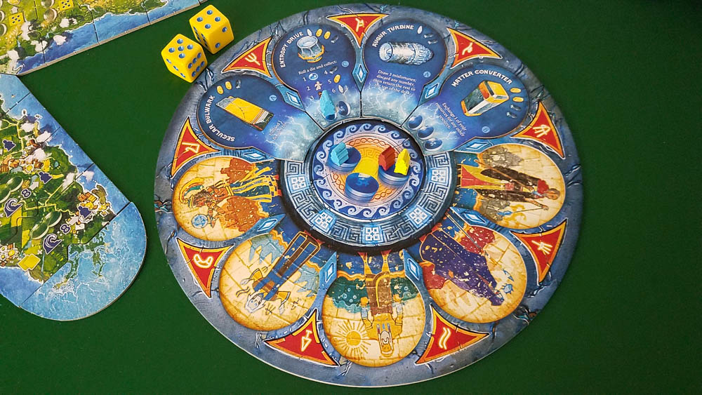 Atlantis Rising (Second Edition) review - the Cosmic Gate board