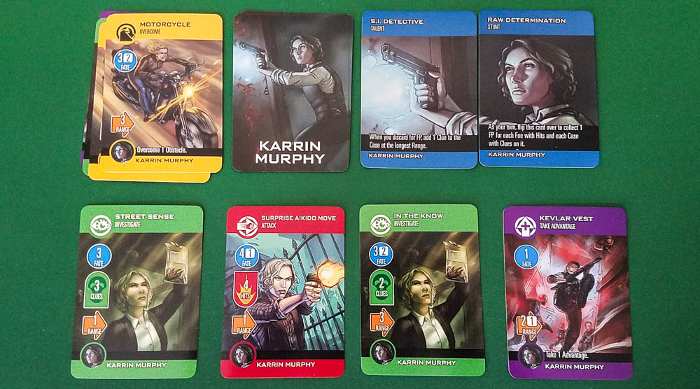 The Dresden Files Cooperative Card Game review - character cards