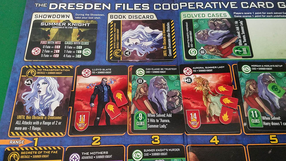 The Dresden Files Cooperative Card Game review - midway through Summer Knight