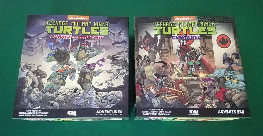 Teenage Mutant Ninja Turtles Adventures review - box covers