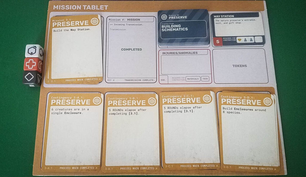 Far Away review - mission cards