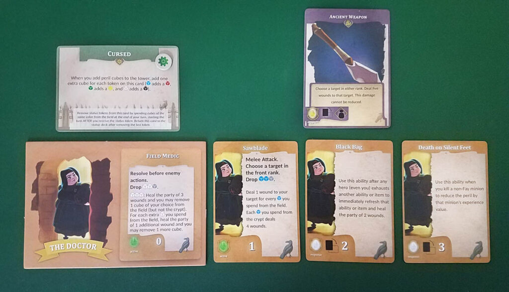 The Stygian Society review - player area